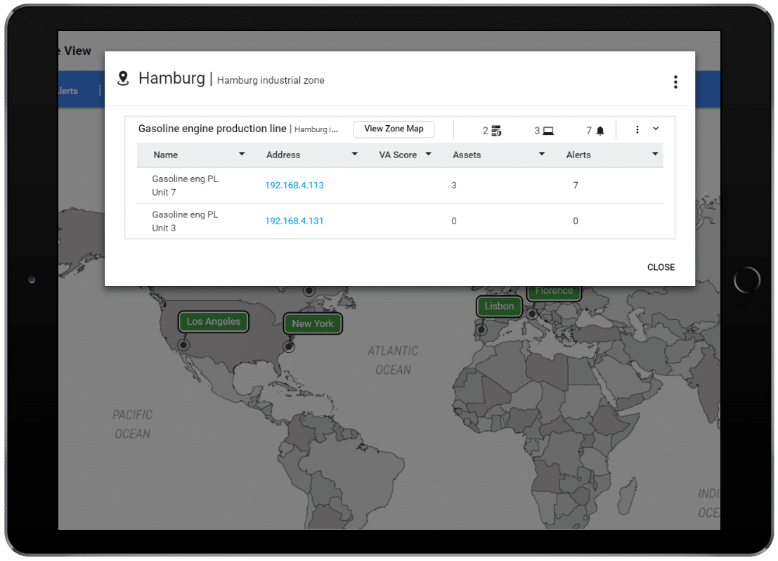 Gain a unified view of assets, risk, and threats across all your global sites.
